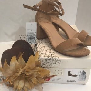 """Shoes - Women's Taupe Sandals 3""""Heel New"""